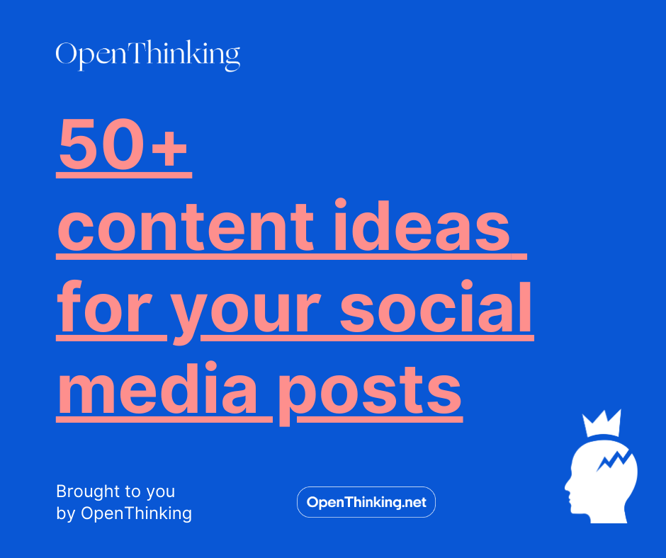 50+ content ideas to post on Social Media