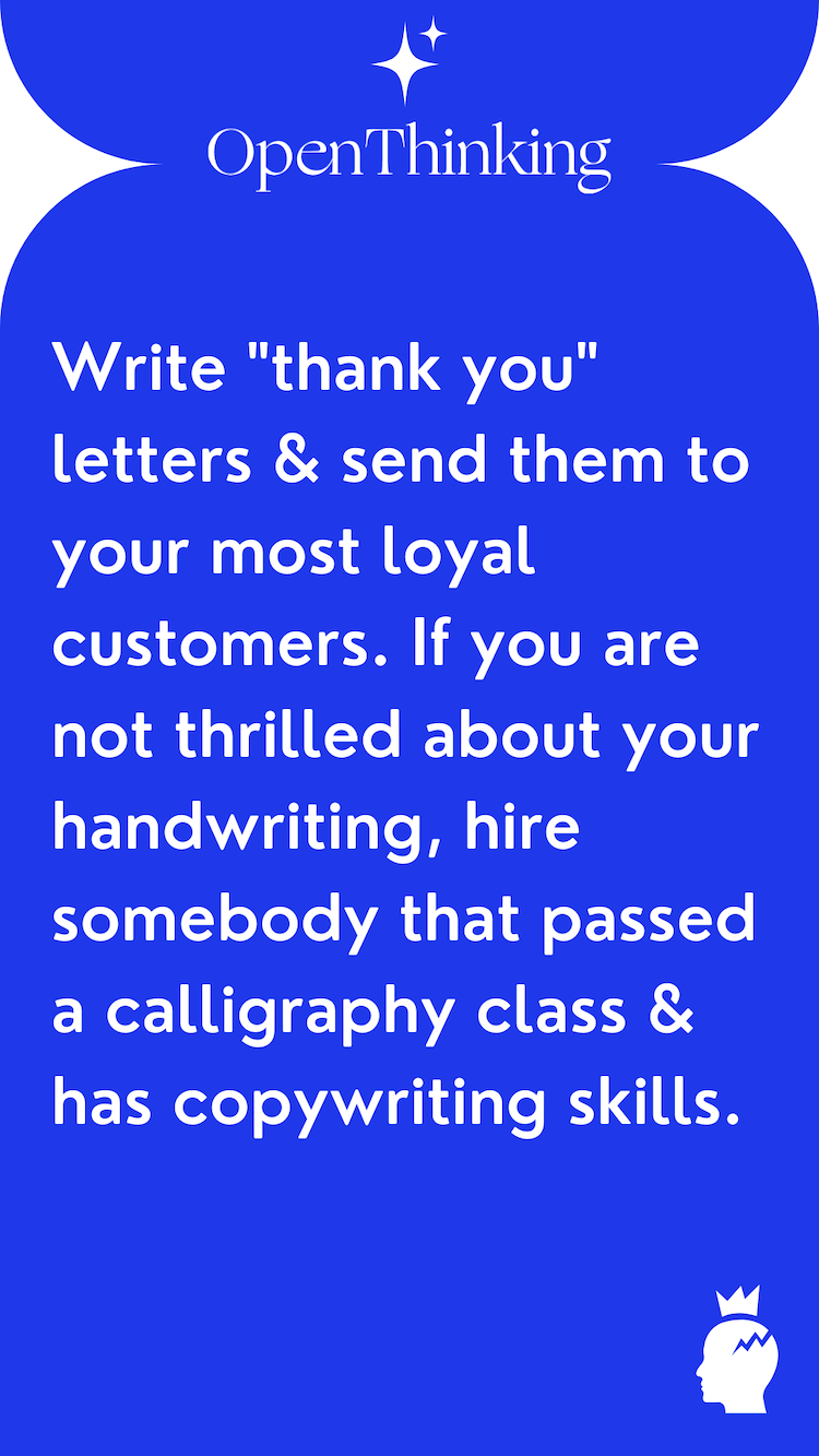 Shopify growth hacking guide thank you letters