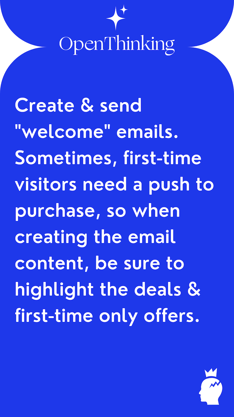 Shopify growth hacking guide welcome emails