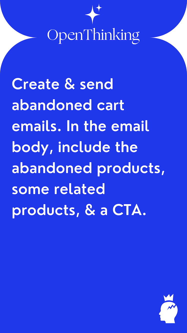 Shopify growth hacking guide abandoned cart emails